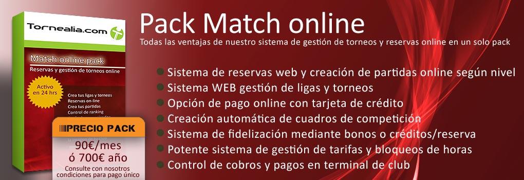 pack de reservas online y gestion de ligas y torneos